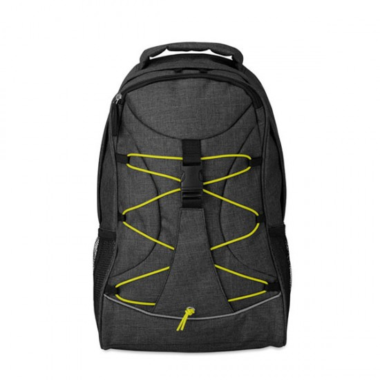 Backpack with glow in the dark cord