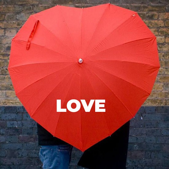 Hearthshape umbrella